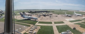 View from the Control Tower at the Kansas Aviation Museum.